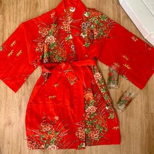 Vintage Asian Print Robe